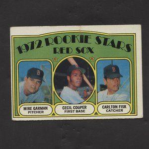 1972 Topps Baseball Carlton Fisk RC Rookie Card